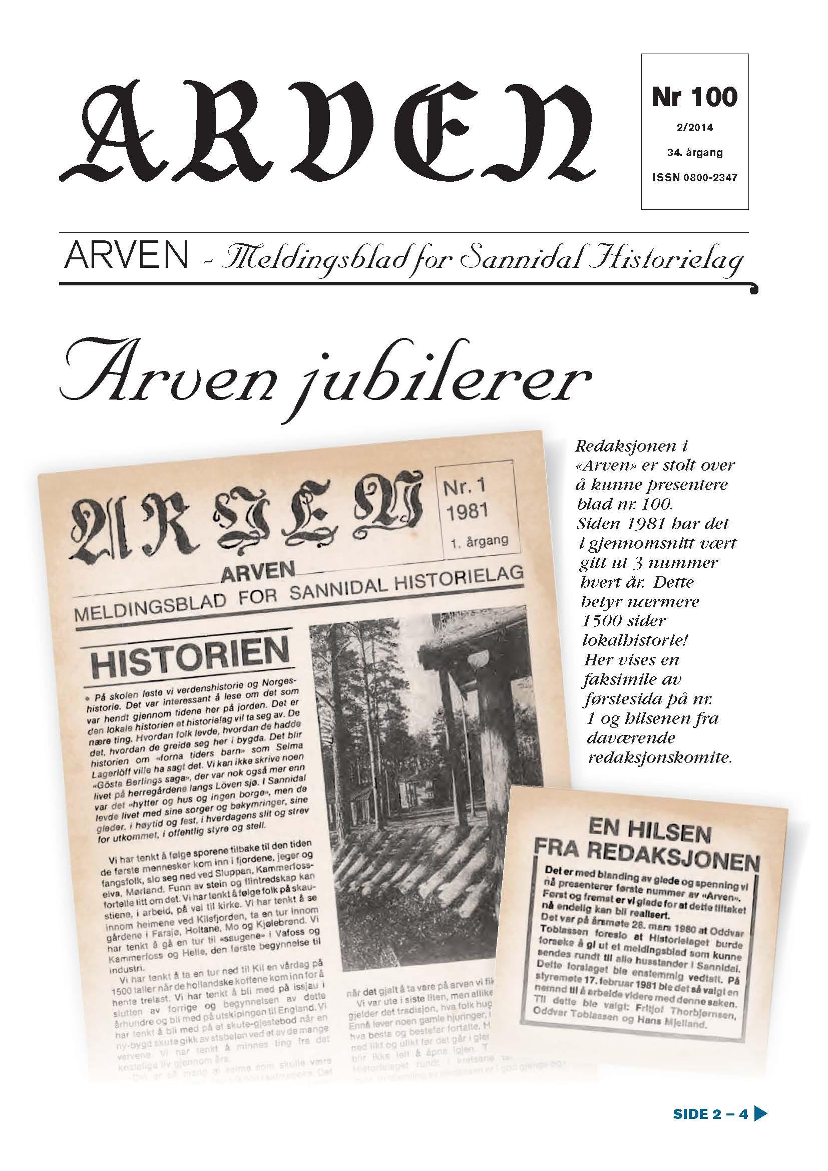 Arven nr. 100 publisert