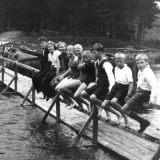 Flytebrua ved Dalsfoss ca.1937