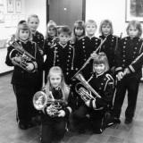Aspiranter i Sannidal skolemusikk korps 1990