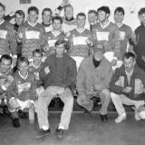 Sannidal fotballgruppe med Tor Hegland i midten