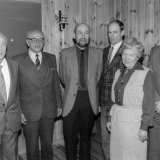 Fra venstre Frithjof Thorbjørnsen, Hans Mjelland, Torkell Tande, Oddvar Tobiassen, Ole Wastøl, ukjent, ukjent