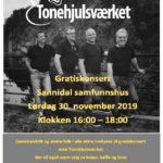 Gratis konsert med Tonehjulsværket 30.11