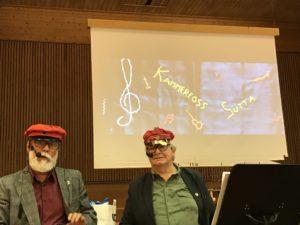 Jan Abrahamsen og Ole Andre Enggrav kåserer om oppveksten i Kammerfoss