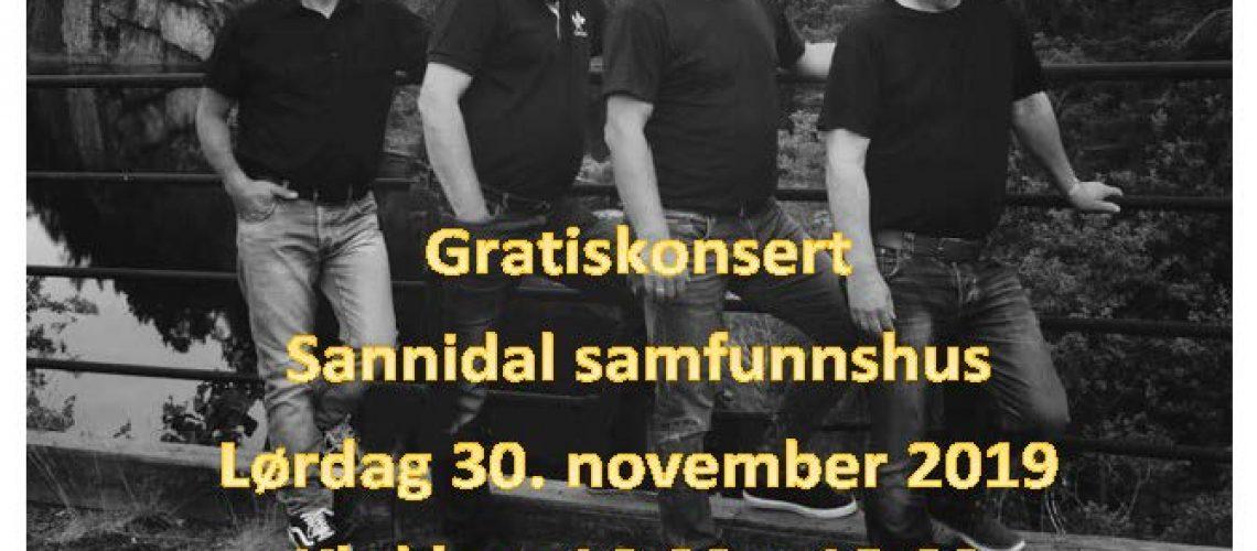 Plakat konsert Samfunnshuset